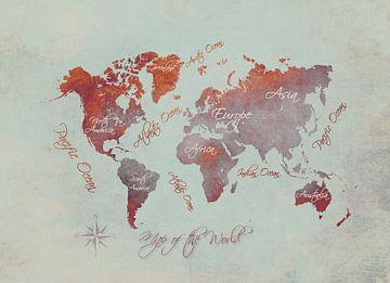Weltkarte 17 #Karte #Weltkarte von JBJart Justyna Jaszke