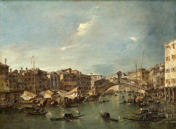 Canal Grande mit der Rialto-Brücke , Venedig, Francesco Guardi