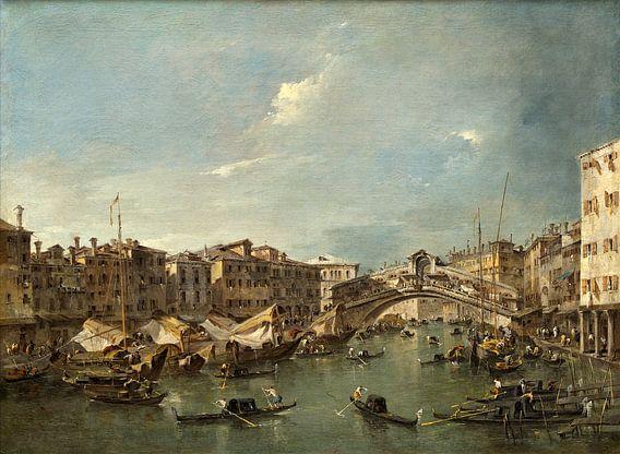Canal Grande met de Rialtobrug, Venetië, Francesco Guardi
