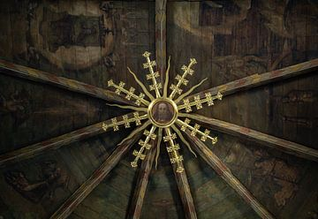 Het plafond van de Grote Kerk in Alkmaar. van