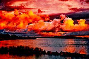 Sonnenuntergang - Abendstimmung am Wasser