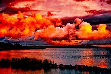 Sonnenuntergang - Abendstimmung am Wasser von Max Steinwald
