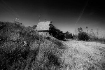 Een huisje in de Biesbosch van Peter Baak