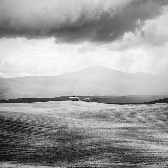 Italië in vierkant zwart wit, Toscane