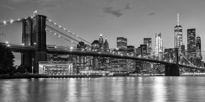 Skyline New York schwarz und weiß von Bart van Dinten