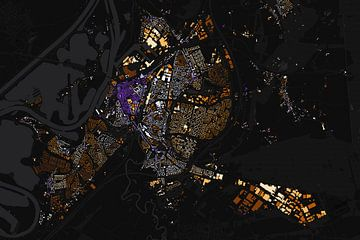 Kaart van Roermond abstract von Stef Verdonk
