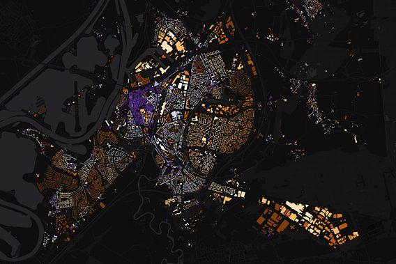 Kaart van Roermond abstract van Stef Verdonk