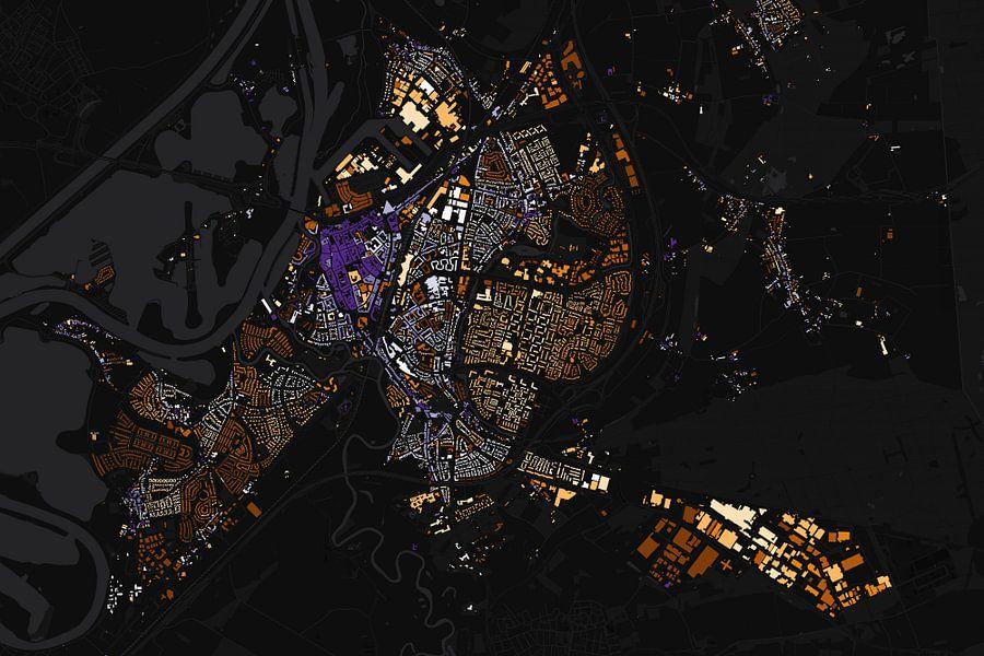 Kaart van Roermond abstract