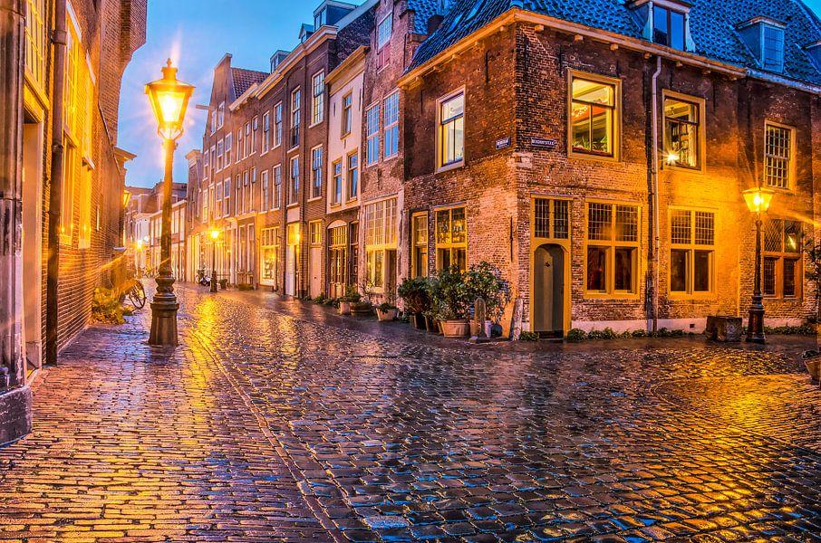 Avond in Leiden van Frans Blok