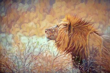 Leeuw in dromenland van Francis Dost