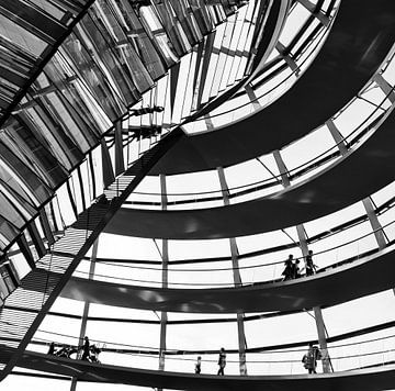 De Reichstagkoepel in Berlijn  van