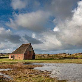 Texel boerderij met hollandse lucht van Erik van 't Hof
