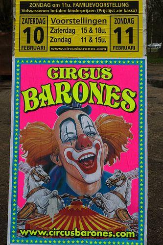 circus poster met clown