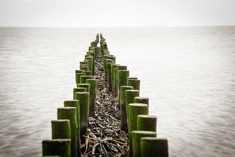 Buhne im Wattenmeer von Annette Sturm