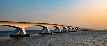 Die Zeelandbrug im Panorama, Zeeland (Niederlande) von Gert Hilbink