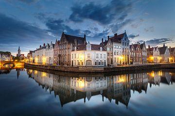 Reflecties in Brugge van Pieterpb