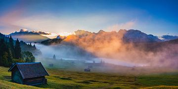 Sonnenaufgang am Geroldsee von Walter G. Allgöwer
