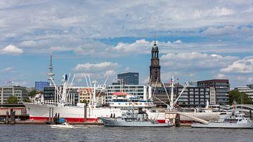 Hamburgse havenscène van Uwe Ulrich Grün