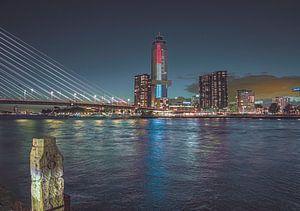 Skyline van Rotterdam van Freddie de Roeck