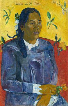 Tahitiaanse vrouw met een bloem, Paul Gauguin