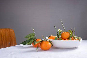 Stilleven mandarijnen van Lynn van Gijzel