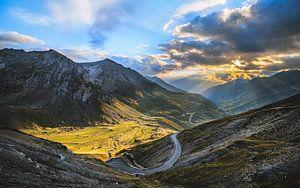 Uitzicht vanaf de Col du Tourmalet van Bruce Girault