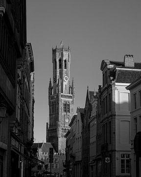 Schwarz-Weiß aus Belfort in Brügge von Christian van Lent