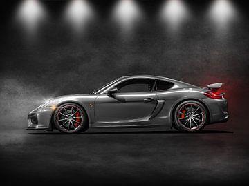 Silberner Porsche GT4 von Maikel van Willegen Photography