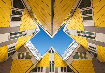 Kubus woningen in Rotterdam van Marcel van Balken