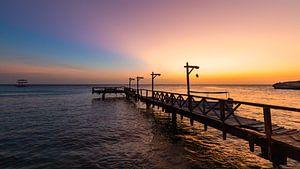 Curacao - Piscadera bay sunset - zonsondergang van Marly De Kok
