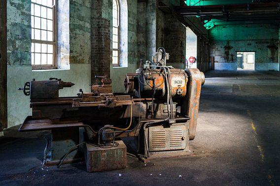 Alte Metall-Fräsmaschine