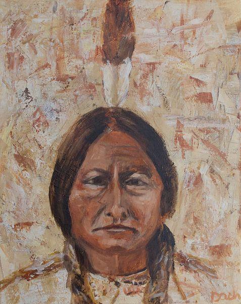 Sitzender Stier, Inder von Mieke Daenen
