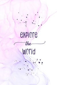 Explore the world   floating colors