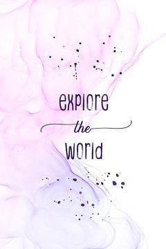 Explore the world | floating colors sur Melanie Viola