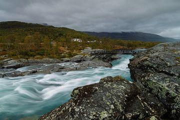 Waterval in Jotunheimen van