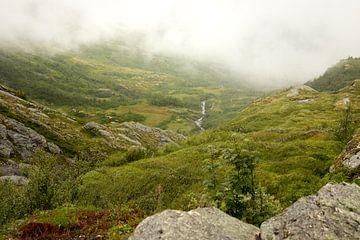 Eine grüne Landschaft in den Bergen von Karijn Seldam