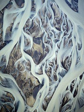 Rivierdelta Texturen van IJsland #3 van Keith Wilson Photography