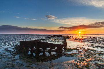 Lever de soleil sur la mer des Wadden