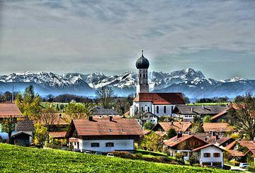 Alpenblick von Peter Bergmann