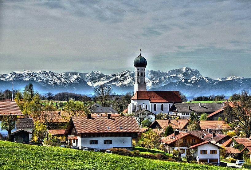 Alpenblick van Peter Bergmann