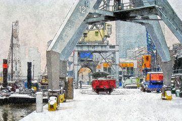 Winter bij de Leuvehaven von