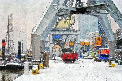 Winter bij de Leuvehaven