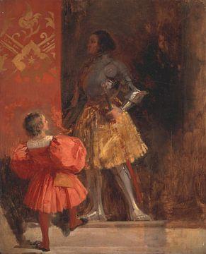 Ein Springer und Page, Richard Parkes Bonington