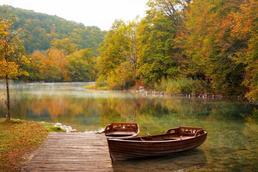 Herfst in Plitvice van Silvio Schoisswohl