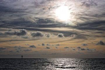 Coucher de soleil mer du nord sur