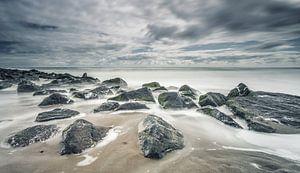 Strand Noordzee Texel van