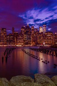 MANHATTAN SKYLINE Sonnenuntergang