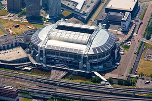 Zon reflectie op dak Amsterdam Arena