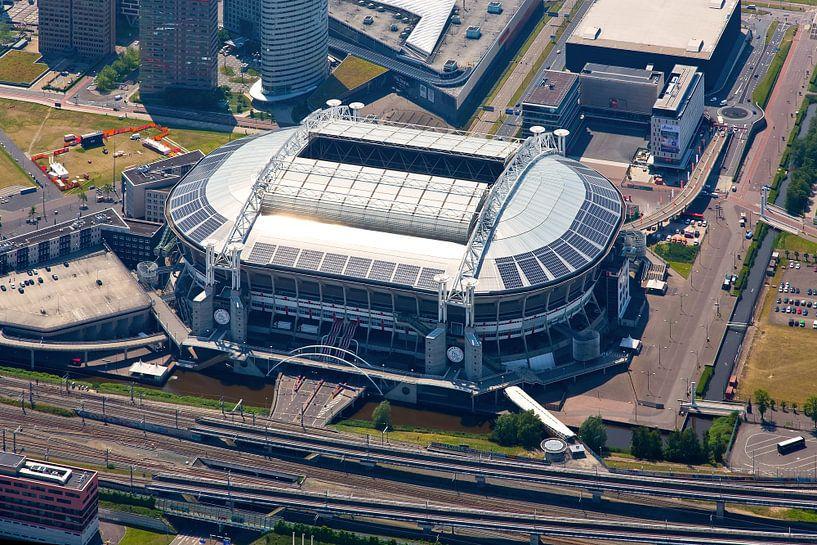 Zon reflectie op dak Amsterdam Arena / Johan Cruijff Arena van Anton de Zeeuw