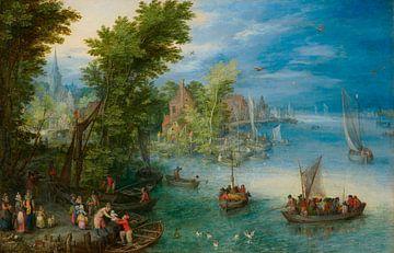 Flusslandschaft, Jan Brueghel de Oude